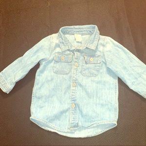 H&M baby boy 6-9 month button up shirt